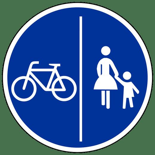 bike cycling foot pedestrian