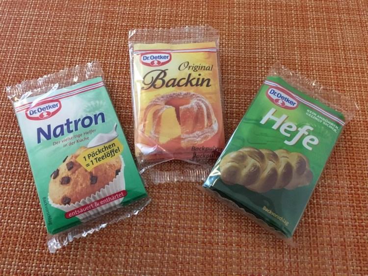päckchen baking Germany supermarket
