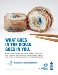 A Surfrider Foundation Public Service Announcement warning about the escalating concentration of plastics in our oceans.