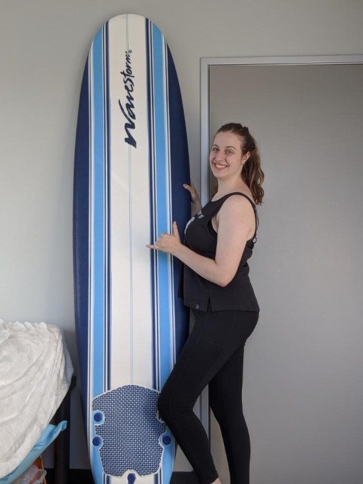 UH Student Happy with Wavestorm Surfboard
