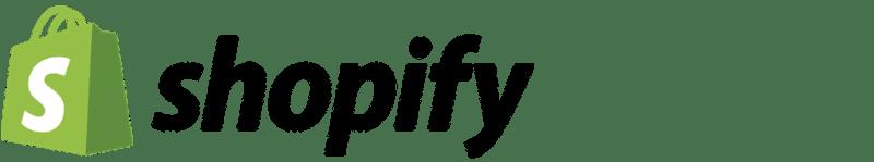 Logo sur fond transparent de la solution Shopify