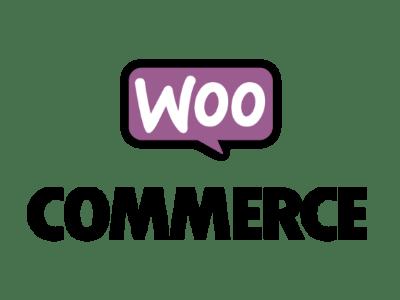 Logo sur fond transparent du CMS WooCommerce