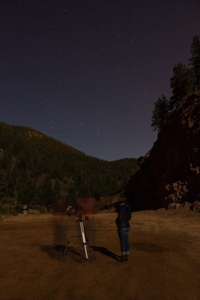night photography of the stars! What a fun date night!