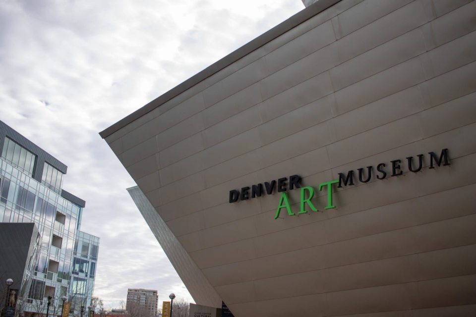 Taking FLYJOY around on our adventures at the Denver Art Museum