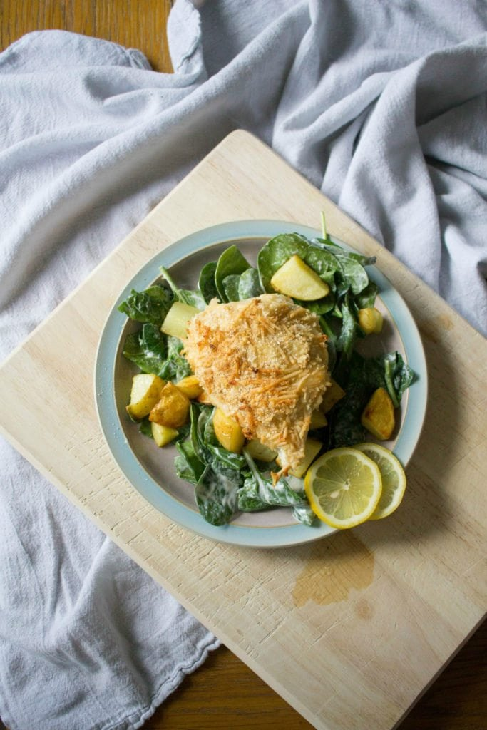 Crispy Chicken Parmigiana Salad with Hello Fresh! Save $35 now with this coupon! (Click through to read more!)