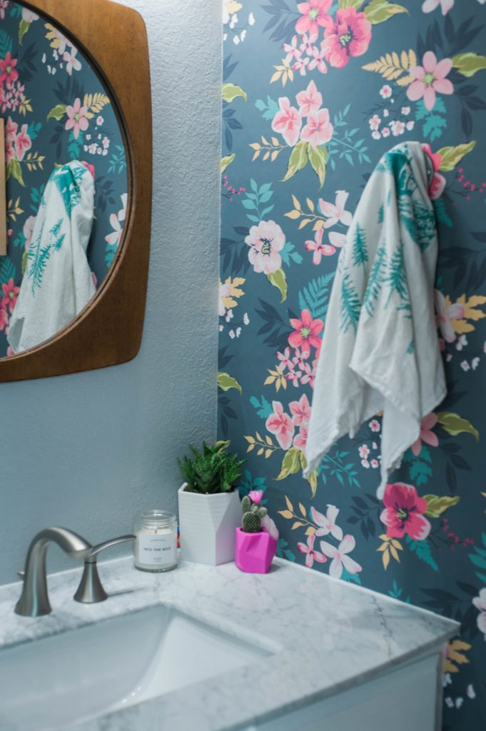 Guest Bathroom Reveal - We remodeled our guest bathroom and this before and after is so fun!