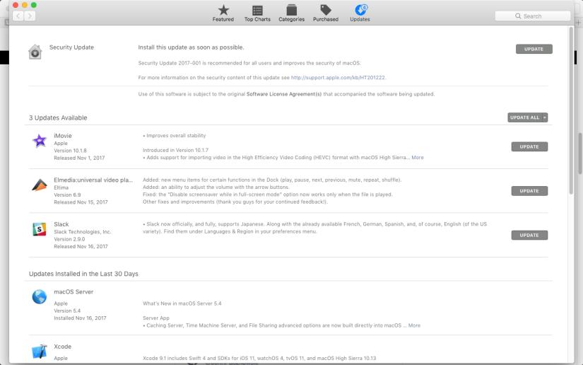 Security Update on macOS App Store