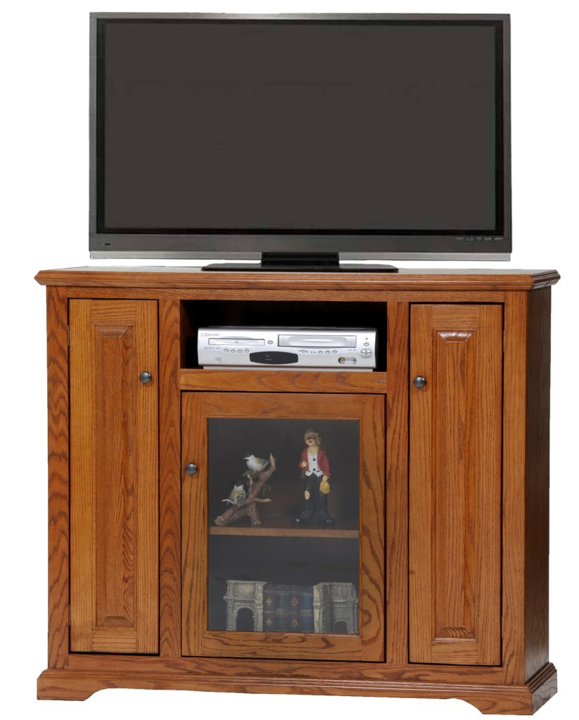 47 Oak Deluxe Tall TV Stand Oak Factory Outlet