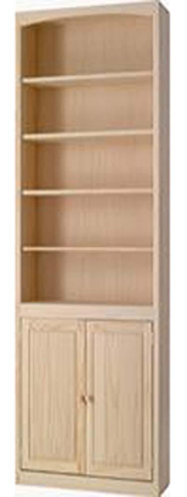 Archbold Furniture 30 Wide Pine Bookcase WDoors Oak