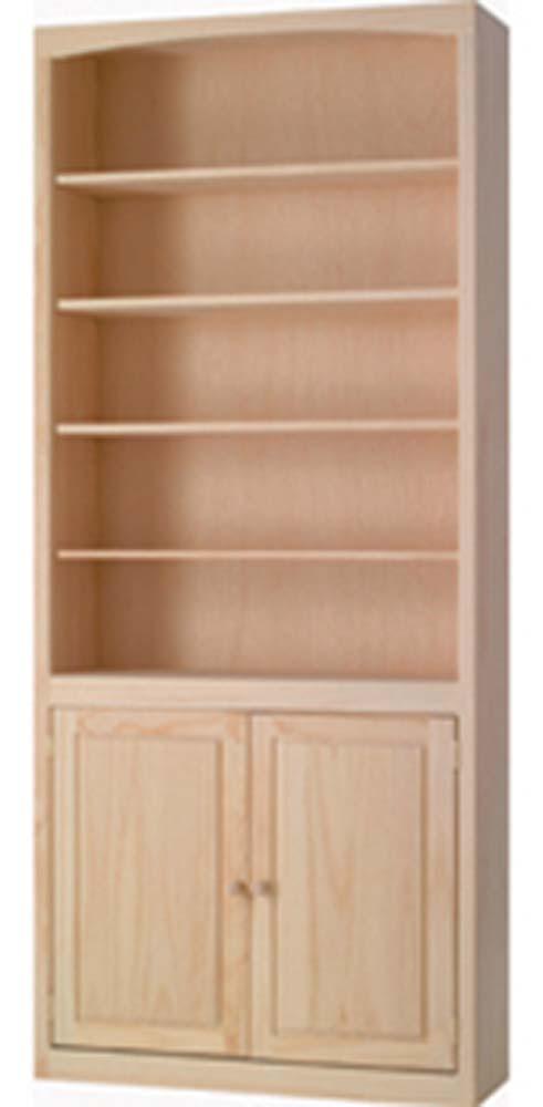 Archbold Furniture 36 Wide Pine Bookcase WDoors Oak