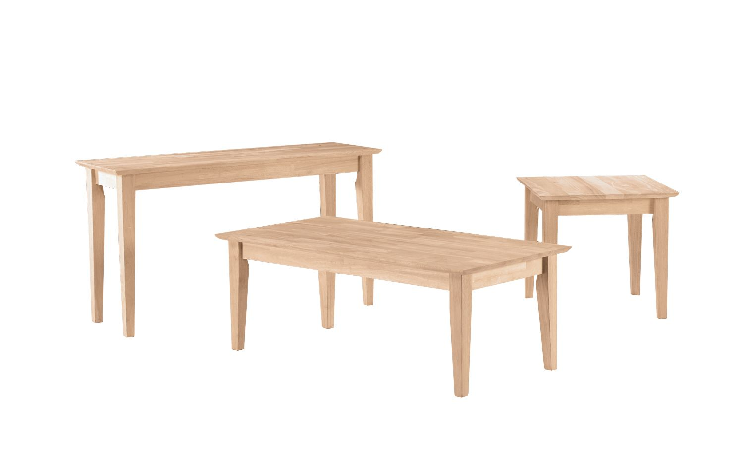 Whitewood Shaker Occassional Set Oak Factory Outlet