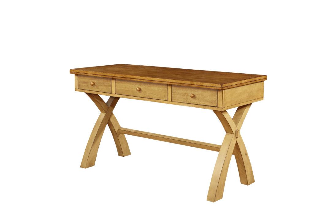 Quinton X Leg Desk Oak Factory Outlet Furniture Store