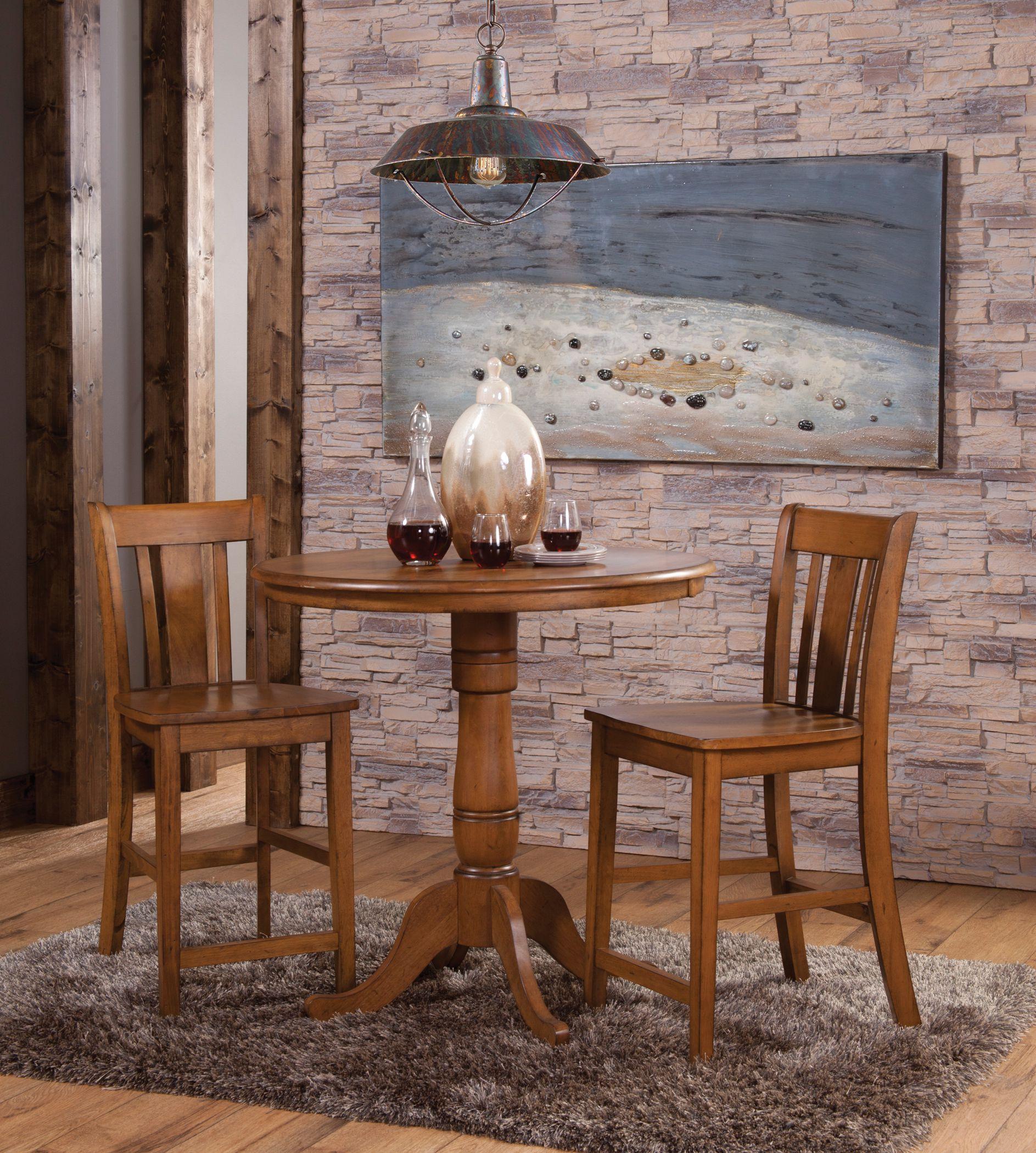 John Thomas Dining Essentials Table Sets Oak Factory