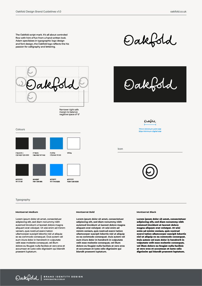 Oakfold Design Brand Guidelines