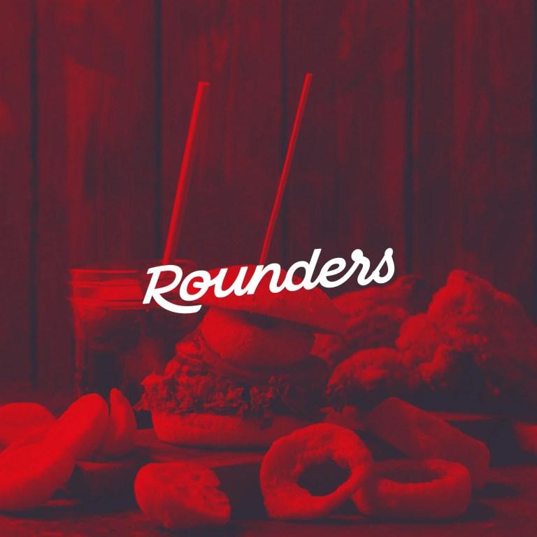 Rounders Chicken branding logotype