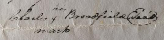 Charles Broadfield--His mark; Isle of Wight, VA