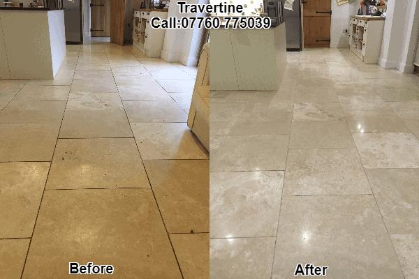 hard floor stone clean polish
