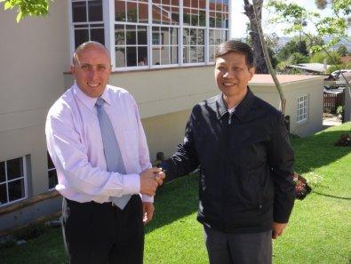 Mr Kidwell, Oakhill School and Mr Wei, Chinese Embassy