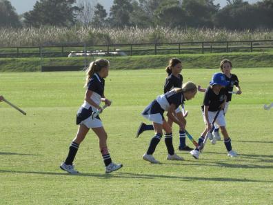 Contesting the ball Oakhill U9 Girls vs. Montessori U9 girls (Copy)
