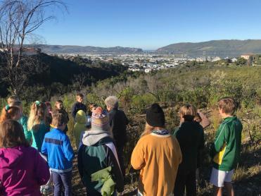 5 Grade 6 to Pledge Park appreciating regrowth (5)