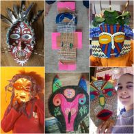 African Mask Collage 4