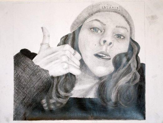 Gr 10 self portraits (13)