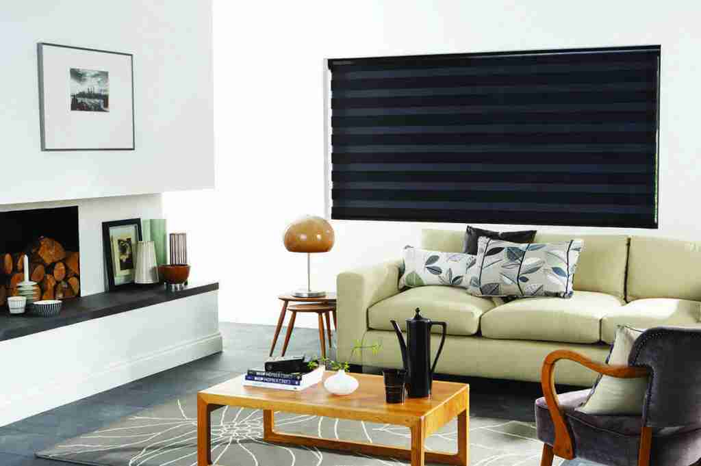 black fully closed vision blinds
