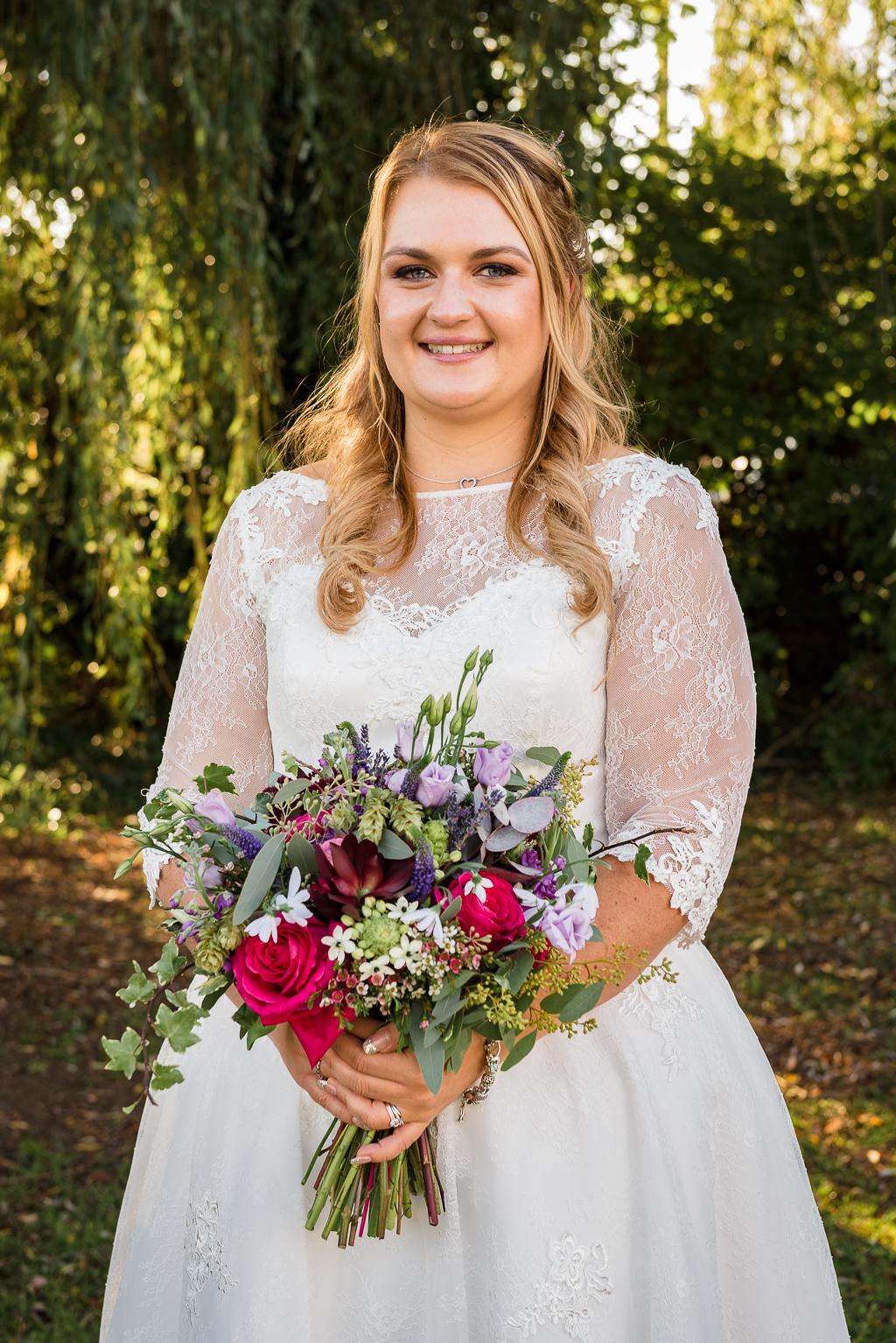 Bride and groom portraits at The Creek Faversham Kent | Oakhouse Photography