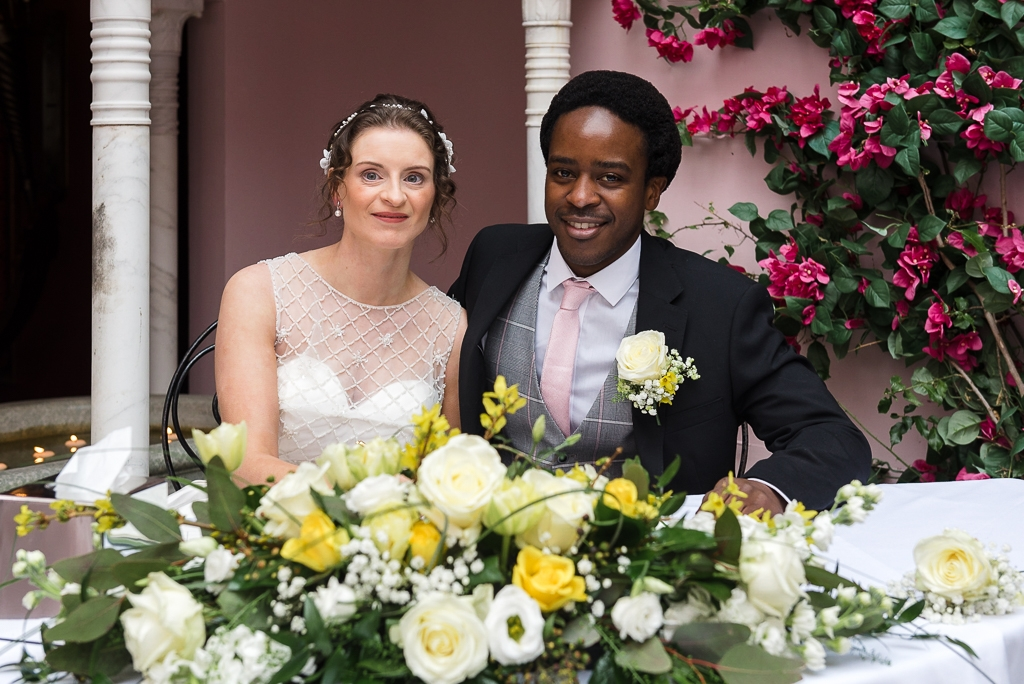 Port Lympne Moroccan Courtyard Wedding | Photographers Oakhouse Photography | Register Signing