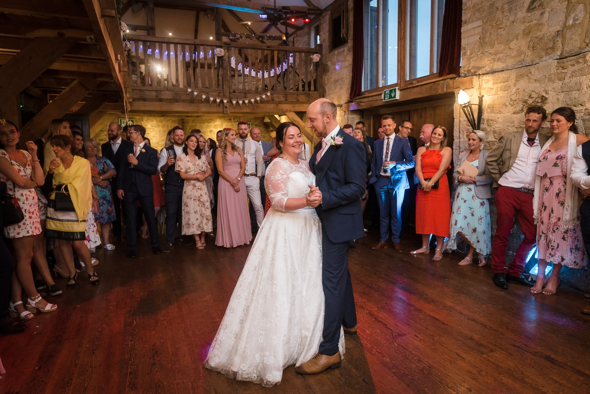 Bride and groom's first dance at Swallows Oast wedding venue, Ticehurst, East Sussex | Oakhouse Photography
