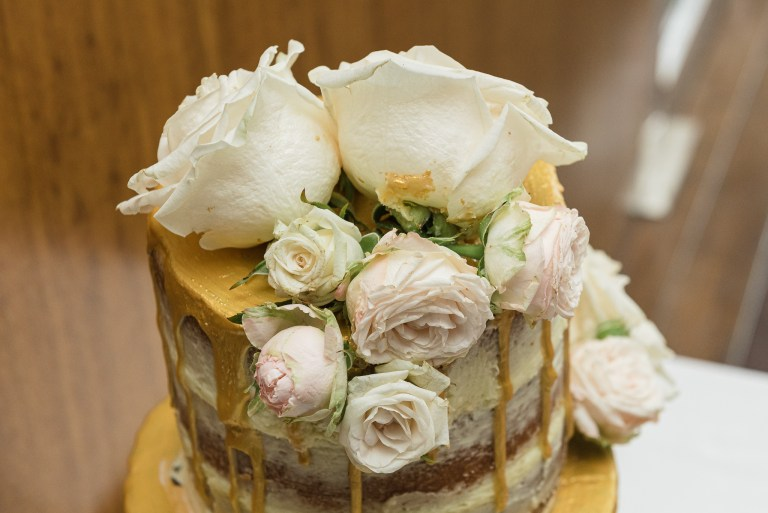 Wedding cake detail photographed at Bluebird Chelsea restaurant in London