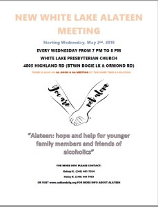 New White Lake Alateen Meeting @ WHITE LAKE PRESBYTERIAN CHURCH | White Lake charter Township | Michigan | United States