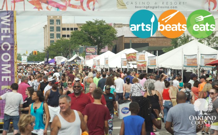 Crowds of people walk the streets of Royal Oak at the 2018 Arts, Beats & Eats Festival.