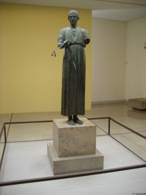 Charioteer of Delphi Heniochos (the rein-holder)