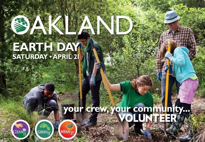 Oakland Earth Day Events For Saturday, April 21, 2018