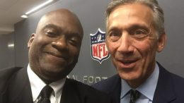 Zennie Abraham with Eric Grubman at NFL Headquarters