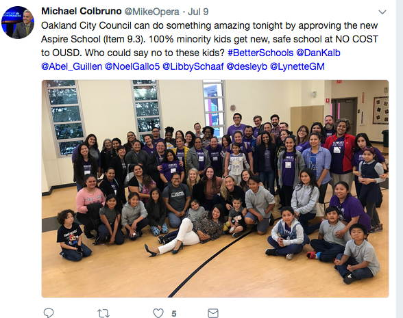 Oakland Aspire Charter School Proponents Use Image Of So-Called Poor Black Kids For Politics