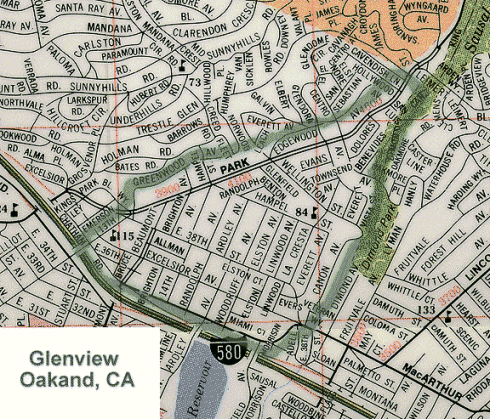 Oakland Glenview Map