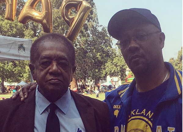 Davey D Cook And Black Panther Legend Bobby Seale At Oakland Pan African Festival