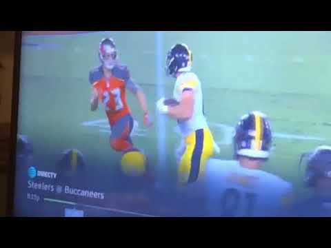 Vance McDonald Stiff-Arms Chris Conte During 75-Yard Catch And Run On MNF