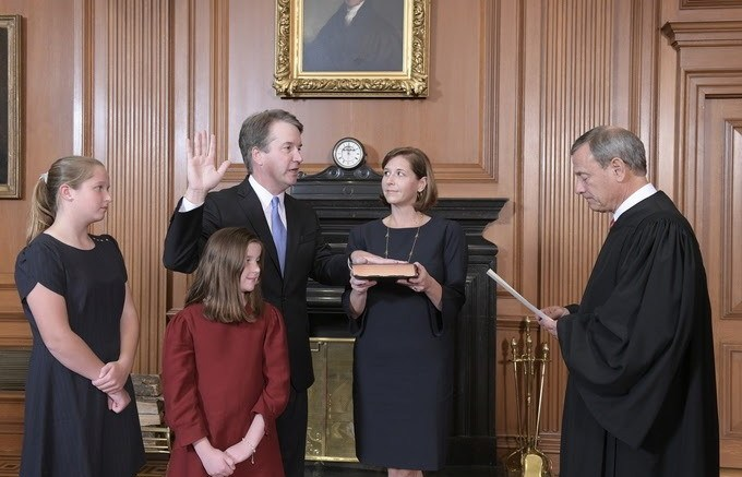 Brett Kavanaugh Sworn In As Associate Justice SCOTUS