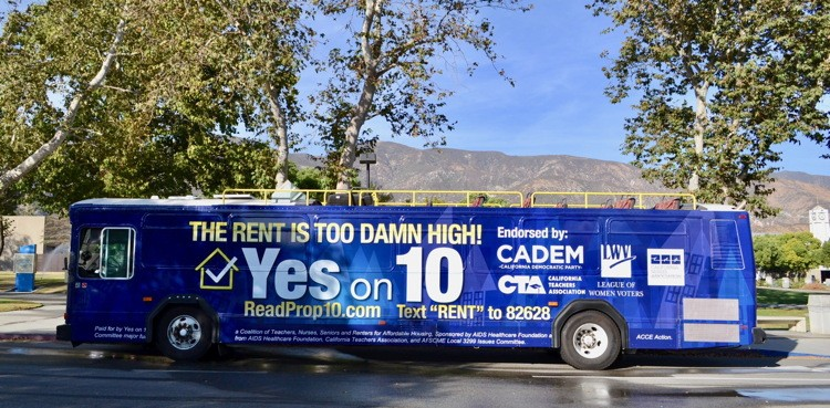 """Rent Is Too Damn High!"" Bus Tour Energizes California To Vote ""Yes on 10"""