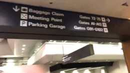 SFO Airport Signage In Terminal 3