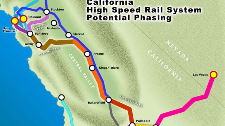 California High Speed Rail Map With Oakland