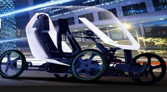 Schaeffler Bio-Hybrid Bike-Car At CES 2019 Las Vegas