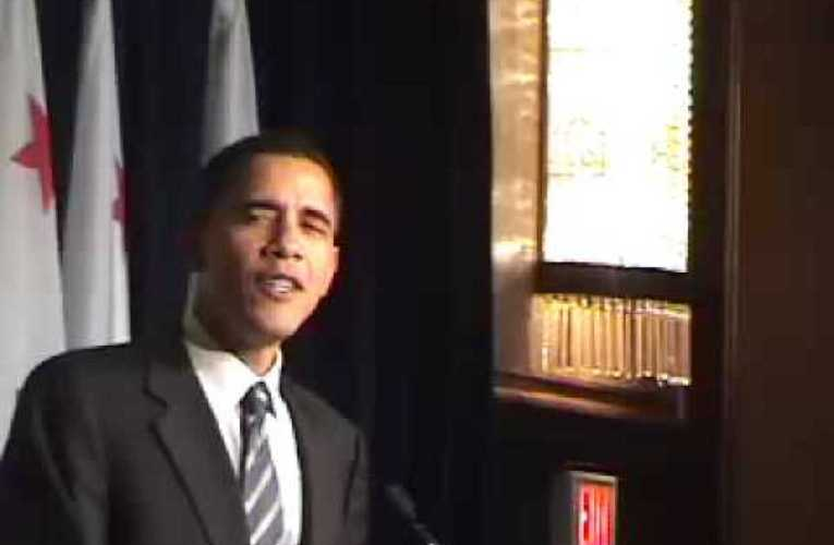 Recalling Barack Obama For President Speech At Sen. Boxer Event, 2007