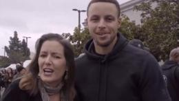 Oakland Mayor Libby Schaaf and Steph Curry