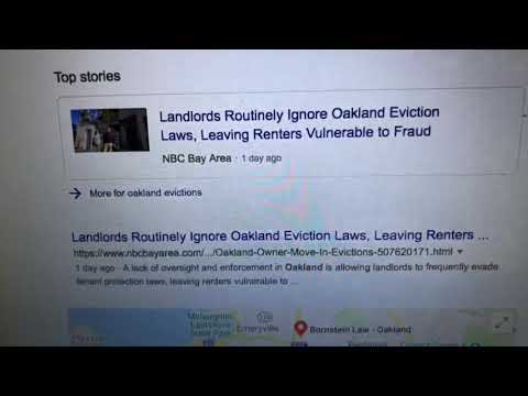 Oakland Landlords Avoiding Eviction Laws Isn't New, City Of Oakland Lets Them
