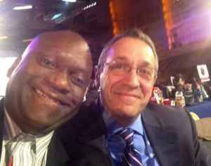Zennie Abraham and Frank Supovitz at NFL Draft in NYC