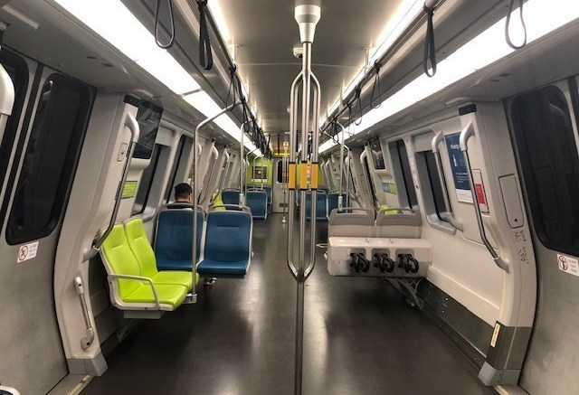 New Sf Bart Train Cars By Bombardier Transportation